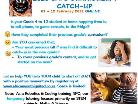 2020 CAPS Curriculum Catch-up: 01 - 12 Feb 2021