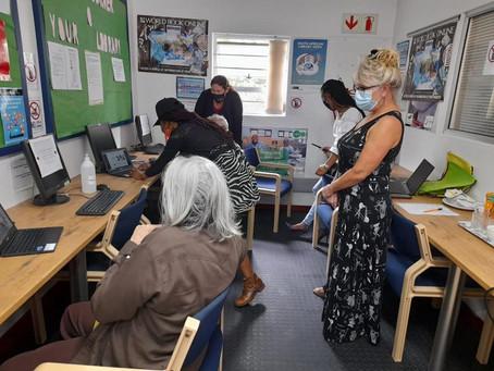 AYI sharing digital skills with Table View Library patrons