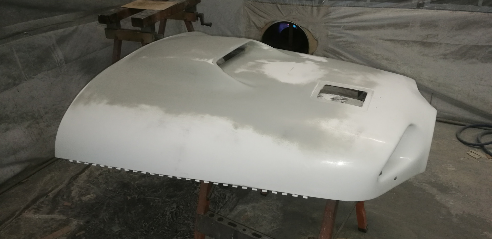 Cowl scoop ready for paint