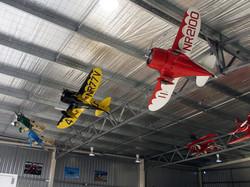 model planes hanging