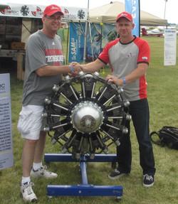 Paul with new R3600 owner Oshkosh USA 2013