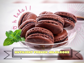NUTILIGHT FRENCH MACARONS