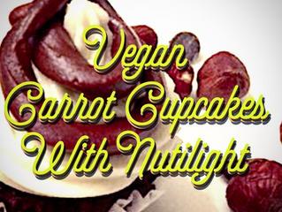 VEGAN CARROT CUPCAKES + NUTILIGHT