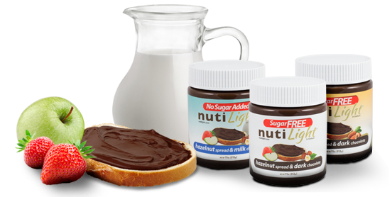 Nutilight, Sugar Free, Chocolate Spread, Milk, Hazelnut, Almond,