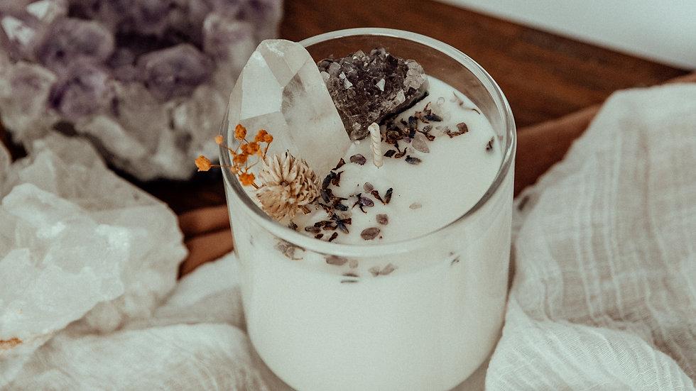 Floral Crystal Jar 'Light & Happiness'