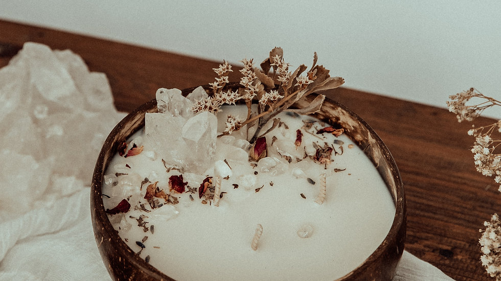 Floral Crystal Coconut 'Cleanse, Clear & Create'