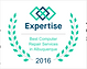 2016 Expertise award for Best Computer Repair in Albuquerque