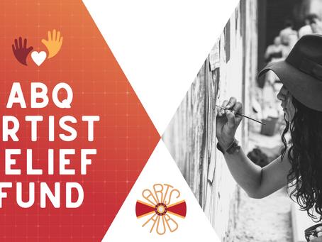 ANNOUNCEMENT: Establishing The Artist Relief Fund!