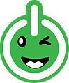 J-BIT Tech Logo Icon - Power button with wink face