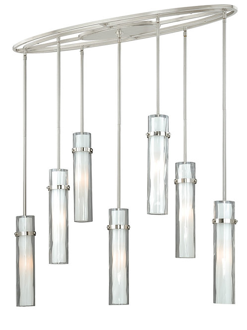 Cascadia Vilo by Vaxcel 7 light fixture with water glass
