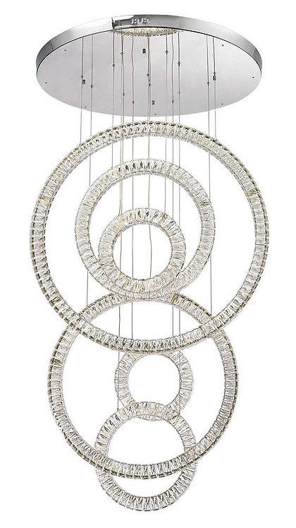 Olympia LED Crystal 160watt (6 round rings)