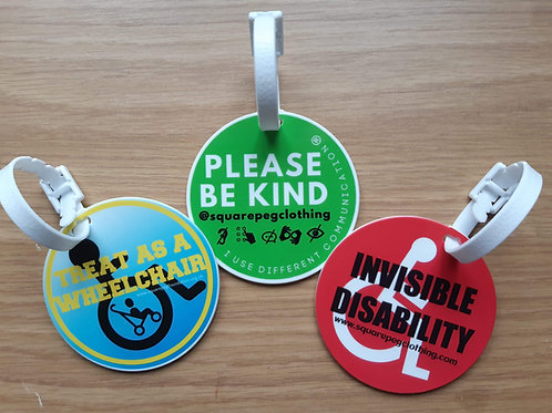 Awareness/Buggy Tag and Sunflower Lanyards