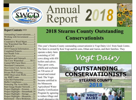 Stearns County SWCD 2018 Annual Report Now Available