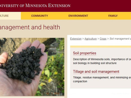 New UMN Soil Management and Health Website