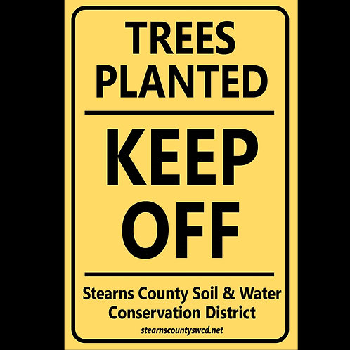 """""""Trees Planted"""" Metal Signs 18"""" x 12"""""""