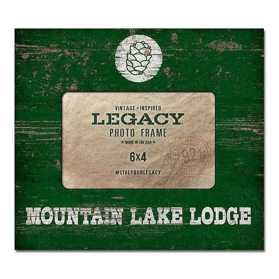 Mountain Lake Lodge Photo Frame