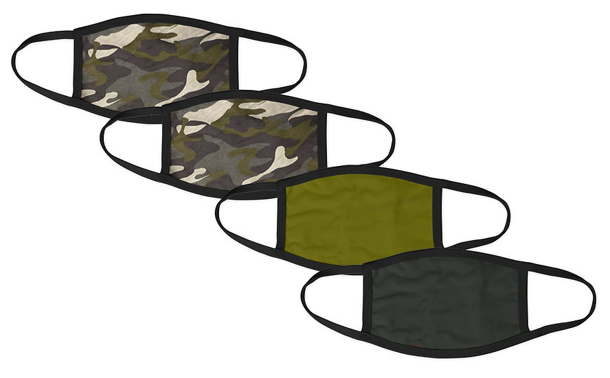 Gent's Camo 4 Pack Face Mask