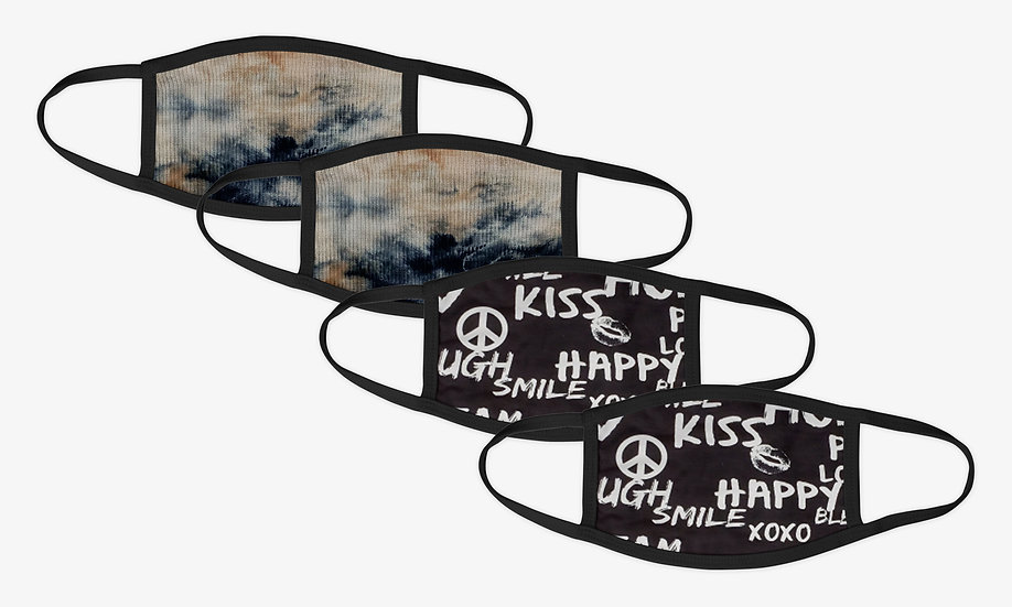 Peace 4 Pack Face Mask