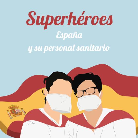 Soutien pour l'Espagne et son personnel de santé.