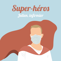 Julien, infirmier à Colmar.