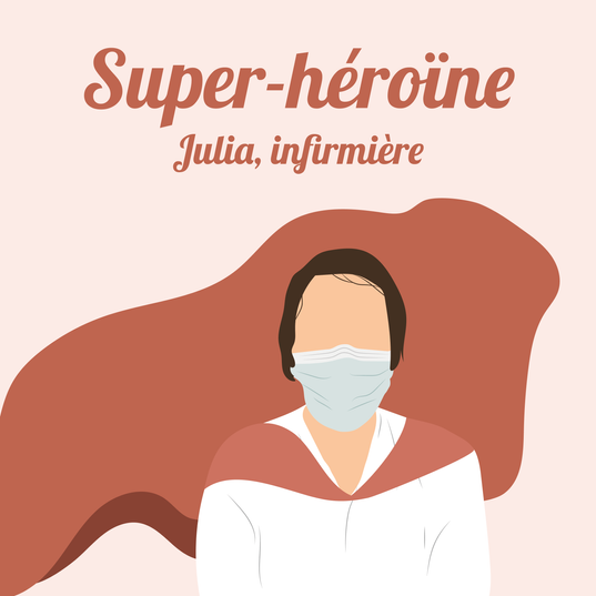 Julia, infirmière à l'hôpital de Helfaut.