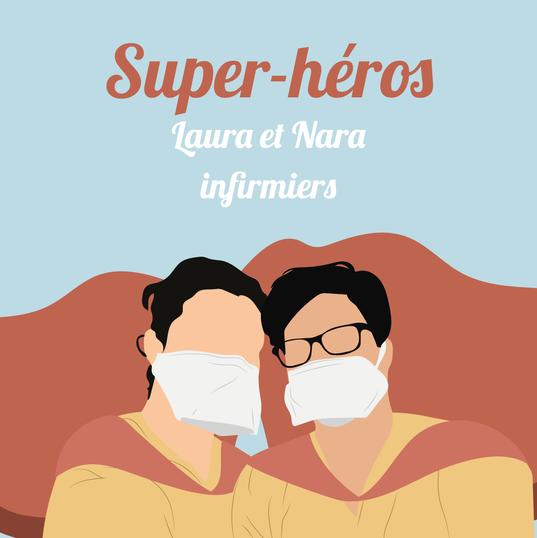 Laura et Nara, infirmiers à Paris.