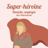 Danielle, employée chez Intermarché à Paris.