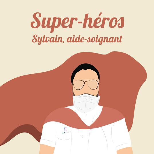 Sylvain, aide-soignant à Toulouse.
