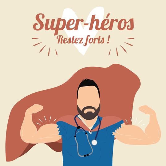 Encore plus d'encouragements pour nos super-héros, restez forts !