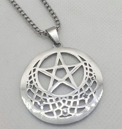 Médaillon de protection pentacle et étoile