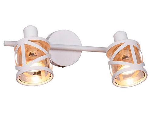 Foco sobrepuesto 2 luces GU10 CALI blanco mate ( SIN AMPOLLETAS)