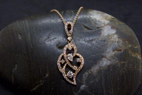18 K Rose Gold & 0.73 CT TW Diamond Necklace