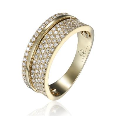 14 K Yellow Gold Diamond Ring. Total Diamond Weight: 0.50 CTS