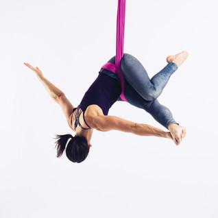 Aerial Sling Hip Key Twist