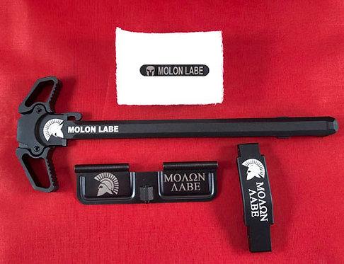 AR15 Engraved Ambidextrous Handle Kit - Molon Labe