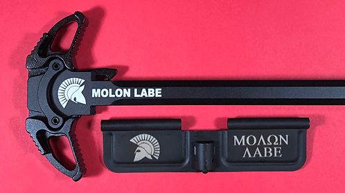 AR-10 Engraved Ambi Handle/Door Bundle - Molon Labe
