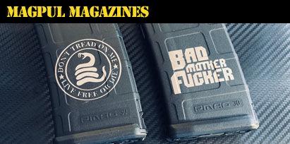 Engraved AR-15 Magpul Magazines