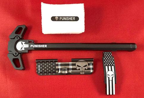 AR15 Engraved Ambidextrous Handle Kit - Punisher