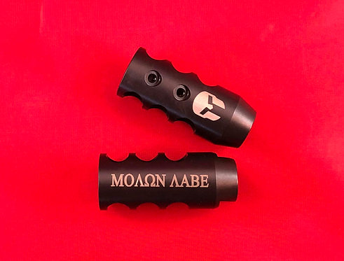 .223/5.56 or .308 Engraved Competition Muzzle Brake -Molon Labe