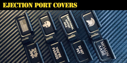 Engraved AR-15 Ejection Port Covers