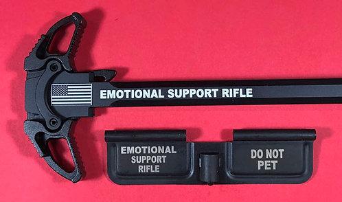 AR-10 Engraved Ambi Handle/Door Bundle - Emotional Support Rifle