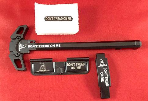 AR15 Engraved Ambidextrous Handle Kit Don't Tread On Me