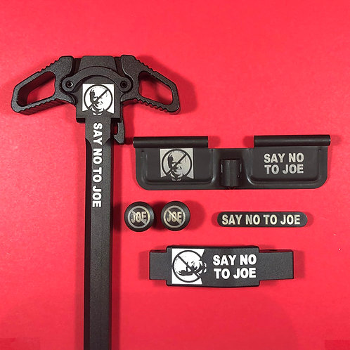 AR15 Engraved Ambidextrous Handle Set - Say No To Joe