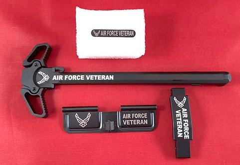 AR15 Engraved Ambidextrous Handle Kit - Air Force Veteran