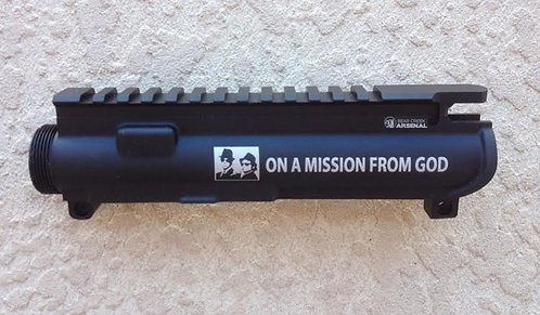 Engraved Upper Receiver - On A Mission From God