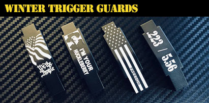 Engraved AR-15 Winter Trigger Guards