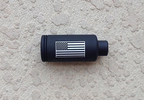 "Engraved KAK Industry Flash Can 1.200"" - U.S. Flag"