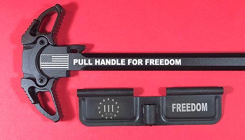 AR-10 Engraved Ambi Handle/Door Bundle - Freedom