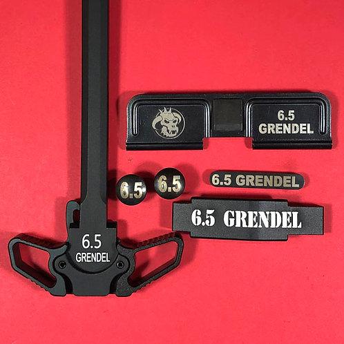 AR15 Engraved Ambidextrous Handle Set - 6.5 Grendel