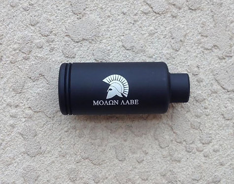 "Engraved KAK Industry Flash Can 1.200"" - Molon Labe"